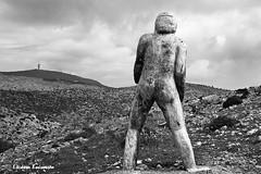 (Eleanna Kounoupa) Tags: wood sky blackandwhite bw sculpture mountain art statue clouds landscapes greece attica   parnitha     blackwhitephotos
