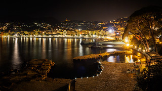 Wonderful night at the coast of Santa Margherita Ligure - Italy