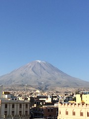 Misti Volcanoe from top of Catedral in Arequipa (Craigs Travels) Tags: peru volcano panoramic arequipa elmisti