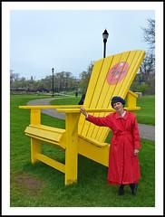 Paul Bunyon's Adirondack Chair, Perhaps? (sjb4photos) Tags: michigan ypsilanti riversidepark adirondackchair washtenawcounty