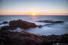 )( - Atlantic water - )( (samuel.devantery) Tags: ocean sunset sun sunlight beach portugal water rocks sundown portuguese cascais waterscape