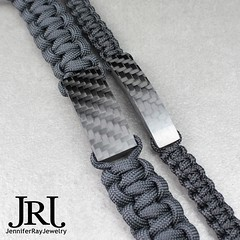 """Something new I'm testing out. Left: """"Tactical Classic"""" Right: """"Classic"""" some of you have been asking if I can make the classic bracelet with 550 paracord well I got some thicker pieces this time so I decided to give it a try. The carbon is .6"""" wide to fi (JenniferRay.com) Tags: ray jennifer jewelry carbon custom fiber exclusive paracord jrj instagram"""