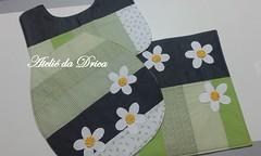 Jogo de Banheiro Patch Margaridas Verde (Ateliê da Drica) Tags: patchwork margaridas apliqué aplicaçao jogodebanheiro