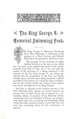Official Opening, King George V. Memorial  Swimming Pool, Maitland, N.S.W. (maitland.city library) Tags: new november west pool wales swimming river for town hall george official memorial war king martin mayor south 1940 souvenir v valley baths gateway works government opening hunter local olympic 9th minister mcdonald mla municipality maitland lomartin