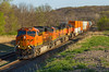 Need More Bloom (Russell_Honey) Tags: santafe spring kansas ge shawnee railfan bnsf zarah atsf railroadphotography intermodaltrain et44c4