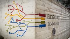 Valladolid - El tiempo nunca se detiene (iRafaNavarro) Tags: del logo arbol colores caminos esquina mapa elogio ngulo tiempo lento