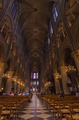 Notre Dame (ErikFromCanada) Tags: windows church candles arch floor cathedral arches notredame benches domes stainglass checker candlelit