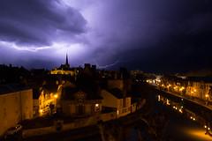 Eclairs sur Montargis (Richard Holding) Tags: sky storm ciel lightening nuit orage clair montargis