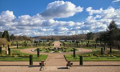 Italian Gardens (jeannie debs) Tags: camera flowers sky brown lake nature gardens clouds canon lens eos spring italian tulips duke sunny historic sutherland capability tamron16300mm canon80d