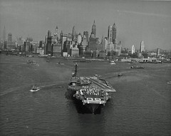 The U.S. Navy aircraft carrier USS Saratoga (CVA-60) departs after a port call in New York City 1958 [1896 1514] #HistoryPorn #history #retro http://ift.tt/243Je32 (Histolines) Tags: new york city history port us call aircraft saratoga navy retro 1958 timeline after uss carrier the 1896  vinatage departs 1514 historyporn cva60 histolines httpifttt243je32