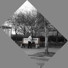Bus Stop RAPRM (HOARYHEAD) Tags: blackandwhite bw minnesota minneapolis busstop nicollet eatstreet rearranging minneapolismn nikon50mmf14 nikond700