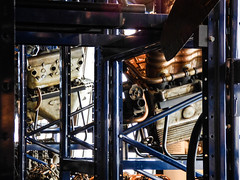 A Rack of Beef (Steve Taylor (Photography)) Tags: uk greatbritain blue england brown white london metal museum plane unitedkingdom aircraft engine science aeroplane rack gb