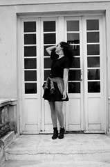(maisacarv) Tags: door old bw building girl beautiful hair nice pretty sp martinelli