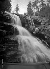 Shevling Rock Falls (DKAIOG) Tags: film monochrome blackwhite largeformat 5x7 ilfordfp4 antiquemeniscuslens new55r3developer