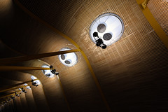 MADRID BARAJAS AIRPORT (Fabio Scalabrini) Tags: madrid wood roof light arquitetura architecture canon lights airport indoor luzes aeropuerto madeira 1022mm 1022 teto barajas madri efs1022mm estrutura vinheta 70d vignete aeorporto