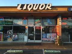 La Palma Chicken Pie Shop (jericl cat) Tags: chicken 1955 sign shop pie restaurant la store closed neon liquor anaheim googie palma