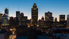 Downtown Montral (Papaye_verte) Tags: sunset canada downtown montral qubec coucherdesoleil centrevillemontral