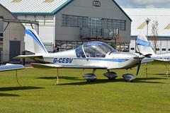 G-CESV EV-97 Eurostar Sywell 23/4/16 (David K- IOM Pics) Tags: light private fly northampton eurostar g aircraft microlight ev97 sywell gcesv