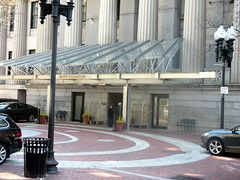 Entrance to Original Portion of Custom House (Autistic Reality) Tags: usa building tower boston architecture america buildings ma hotel us unitedstates massachusetts unitedstatesofamerica towers structures structure hotels custom neoclassical customs greekrevival customhouse customhousetower suffolkcounty commonwealthofmassachusetts cityofboston ammiyoung mckinleysquare customhouses ammiburnhamyoung peabodyandstearns neoclassicalstyle ammibyoung trojungbrannen jungbrannenassociatesinc
