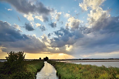 Sunset () Tags: sunset sky field clouds tramonto nuvole rice country campagna cielo fields risaie
