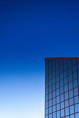 Into the blue (Juuso34) Tags: blue red sky reflection building lines azul architecture freshair rojo nikon crystal steel andalucia granada reflejo minimalism cristal armilla lineas acero d3200