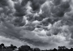 Ominous Clouds! (Tilney Gardner) Tags: blackandwhite bw clouds dorset poole stormyclouds mammatus