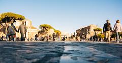 Leading to the Colosseum (lorenzoviolone) Tags: road street italy roma reflex nikon strangers streetphotography tourists colosseum streetphoto dslr lazio lowangle imperialforum fujiastia100f vsco d5200 nikkor18105mm nikond5200 vscofilm streetphotocolor walk:rome=april2016