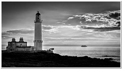 Corsewell Point lighthouse (Hugh Stanton) Tags: sunset sea lighthouse ferry boat appickoftheweek