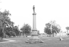 """Monument to """"Our Confederate Soldiers"""", Wiess Park, Beaumont, Texas 1604281402bw (Patrick Feller) Tags: park county heritage history monument memorial war texas jim keith confederate civil hate jefferson denial crow shame slavery weiss racism racist beaumont cause 1926 1916 relocated bigotry wiess revisionist"""