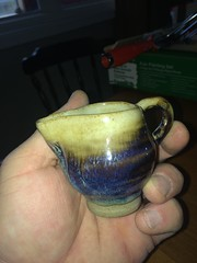 Small pitcher (Beerdedbiker) Tags: handmade clay pottery syrup maplesyrup pitcher stoneware potterywheel handthrown creampitcher