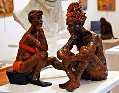 9 - 49me Salon des Arts dAlfortville Nathalie Soulet, Zen, Terre cuite raku (melina1965) Tags: sculpture macro statue nikon ledefrance january statues macros janvier sculptures valdemarne 2016 alfortville d80