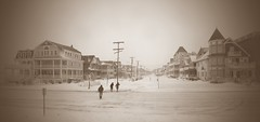 Ocean Grove in the Blizzard of '16 (markchevy) Tags: ocean sea panorama snow sepia landscape photo newjersey interesting pix graphic central broadway nj picture scene atlantic vista blizzard pictorial oceangrove markchevy