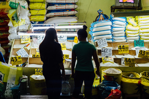 Women Buying Bulk Rice, Cebu City Philippines