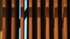 A B C D E F G H (Oscar F. Hevia) Tags: shadow espaa spain iron driving letters pipe asturias sombra oxido salinas alphabet scrap archeology industria letras oxide hierro asturies arqueologa tubera uppercase chatarra tuberas abecedario conduction abcdefgh castrilln maysculas principadodeasturias conducciones elespartal