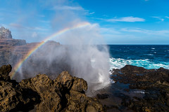 Nakalele Point (Maui Island, Hawaii, USA) (Samuel Gmehlin) Tags: usa america hawaii rainbow maui blowhole      nakalelepoint  2470  nikond750