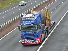 R2 FHH (Cammies Transport Photography) Tags: truck stirling lorry heavy r2 flyover scania m9 haulage fhh finnie r620 r2fhh