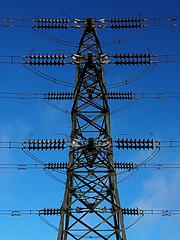 power pylon (vinmar) Tags: blue sky power pylon electricity mast