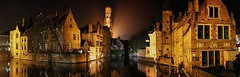 Bruges, under the spell of the Middle Ages (Bn) Tags: world city venice winter panorama holiday tower heritage beer caf beauty fog architecture fairytale night walking town belgium postcard centre gothic sightseeing brugge belgi visit tourist medieval topf300 canals unesco bruges middle flemish ages topf200 painters gem belfort chocalate bycicle photogenic dijver guildhouse vlaanderen rozenhoedkaai wateren 200faves 300faves