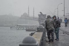 DSC_1655 (zeynepcos) Tags: bridge winter snow man cold fishing fisherman outdoor istanbul mosque galata karakoy eminonu