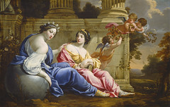 The Muses Urania and Calliope (kc.benson) Tags: pink blue stars landscapes ruins poetry 17thcentury columns books muses pastels astronomy wreaths globes calliope urania crowns drapery putti classicism laurels frenchart 1630s grandmanner classicalmythology baroqueart frenchartists epicpoetry femalebeauty godsandgoddesses vouet laurelwreaths frenchbaroque simonvouet frenchpainters diadems classicalruins classicallandscapes heroicpoetry