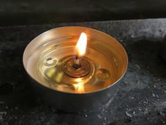 Macro Candle (Charlotte Abi) Tags: church grey candle hogwarts tealight