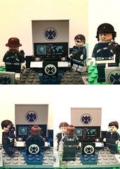 Sheild and its leaders (Letgoofmylego) Tags: america joseph lego phil maria nick hill steve super jr scorpio nicholas captain heroes doyle minifig roger patch custom marvel universe colonel sr fury sheild coulson dum mranger themaninthemysterymask