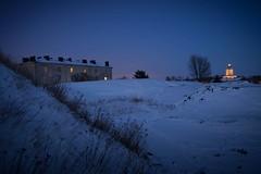 World Heritage site Suomenlinna (Jaakko Tuuli) Tags: winter sunset lighthouse snow island