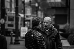 """Oh Really?!"" (jalen.martin42) Tags: street people blackandwhite white black downtown kentucky talk louisville wrinkles"