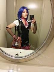 Schoolgirl Punk 11 (ShadowFoxiness) Tags: punk feminine cd crossdressing tgirl transgender schoolgirl bluehair crossdresser crossdress tg