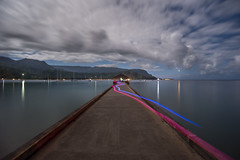 DSC_7933 (Axisworks) Tags: longexposure night island hawaii pacificocean northshore kauai tropical hanaleipier hanalei lightstreams dramaticclouds