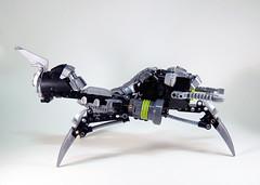 Lesovikk's Sea Sled - Side (0nuku) Tags: green underwater lego air submarine master vehicle g2 glider bionicle toa 2015 faxon uniter ccbs mahrinui lesovikk karzahni ussanui