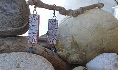 (katerina66) Tags: texture handmade jewellery polymerclay clay earrings polymer handmadejewellery