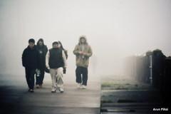 The gang (Arun S Pillai) Tags: street newzealand people weather nikon gang foggy auckland