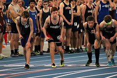 4x800m RELAY START (MIKECNY) Tags: race start highschool relay indoortrack startingline mechanicville
